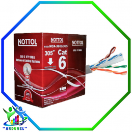 CABLE UTP CAT-6 NOTTOL 305MTS