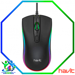MOUSE NEGRO RGB CON CABLE
