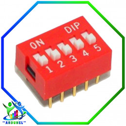 DIP SWITCH 5 PINES
